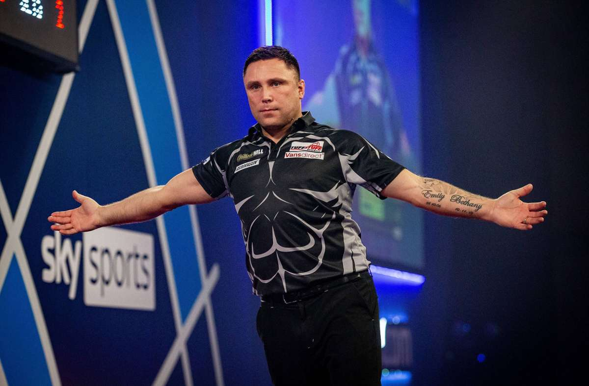Mit seinem ersten Weltmeistertitel im Darts reiht sich Gerwyn Price in die bedeutende walisische Sportgeschichte ein. Foto: imago images/Pro Sports Images/Ian Stephen