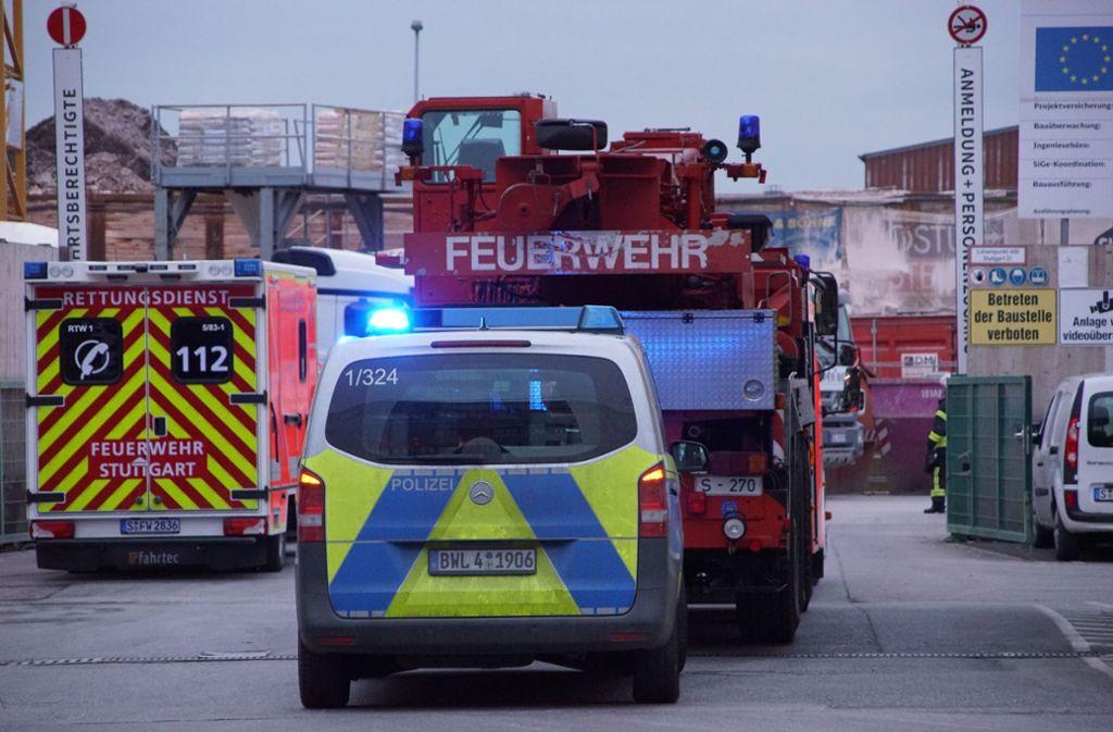 Rettungseinsatz in Stuttgart-Wangen an der S21-Tunnelbaustelle Foto: SDMG