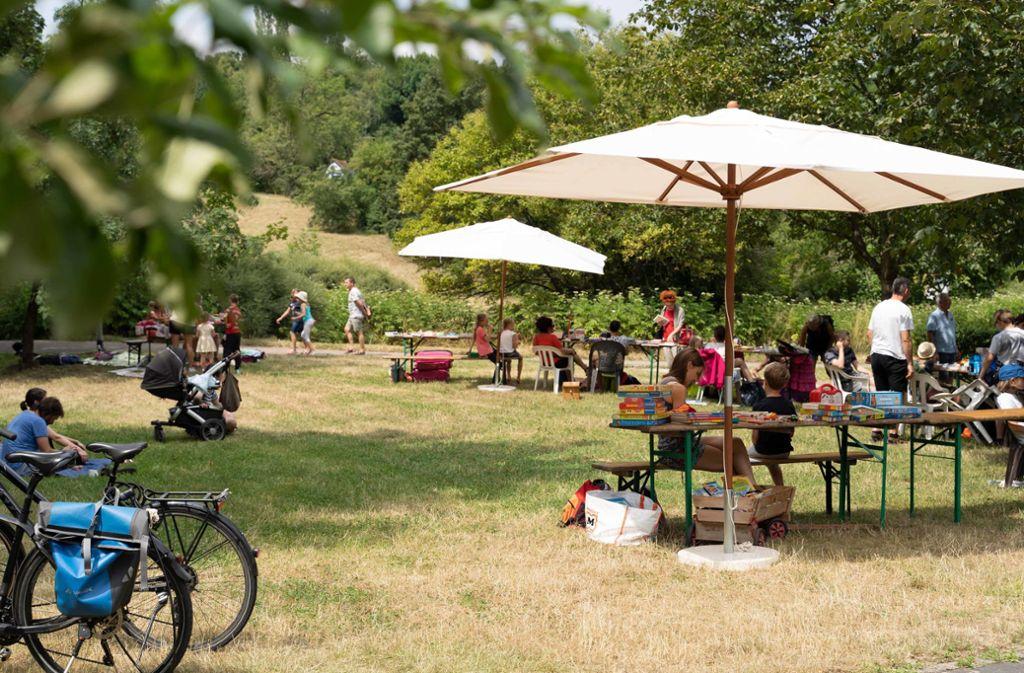 Sommerfest an der Ökostation  am Wartberg. Foto: Julia Schramm