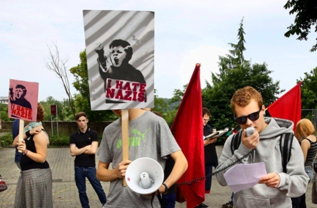 Demo gegen Rechts vor dem Leonberger Gericht. Foto: factum/Krieger
