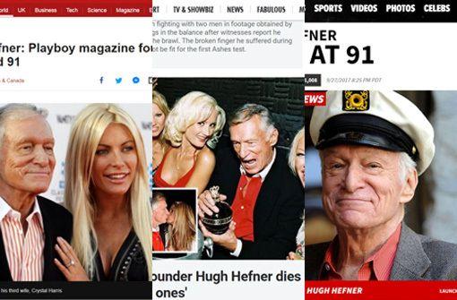 So reagiert die Presse auf den Tod von Hugh Hefner