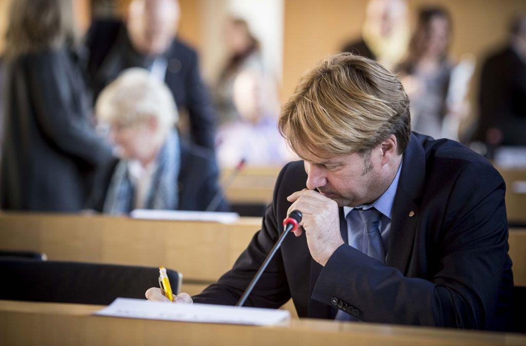 Bernd Klingler: Ob er der AfD-Fraktion noch lange angehört, ist ungewiss. Foto: Lichtgut/Leif Piechowski