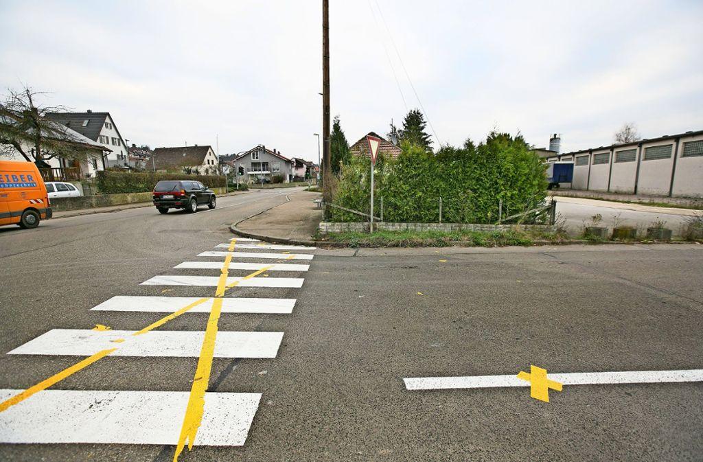 Diese Streifen an der Nürtinger Straße sind wieder ausgestrichen worden Foto: Horst Rudel