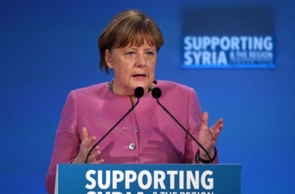 Deutschland unterstützt die Hilfe für notleidende Syrer und die Region mit 2,3 Milliarden Euro. Bei der Geberkonferenz in London sicherte Merkel die Summe bis 2018 zu. Foto: Getty