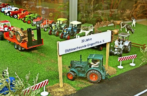 Gut und gerne   100 Traktoren passen ins Rathausfoyer