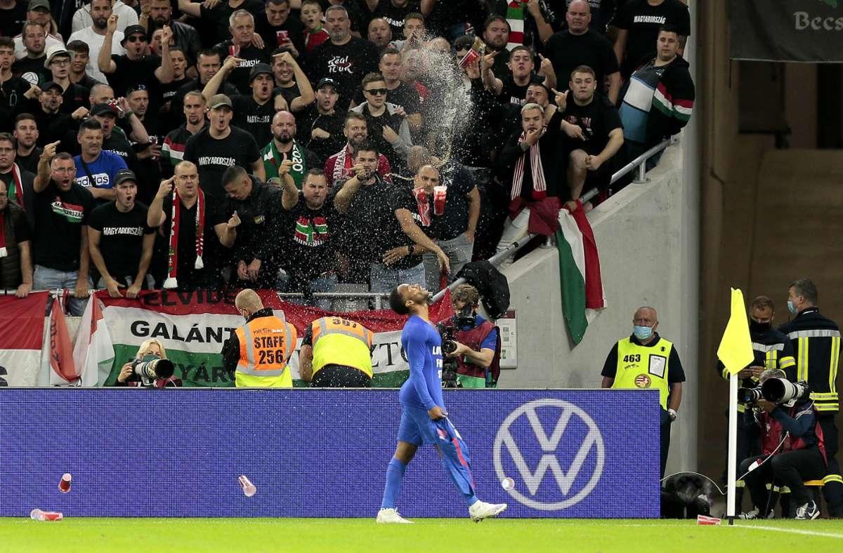 Englische Spieler wurden in Budapest rassistisch beleidigt. Foto: imago images/PA Images
