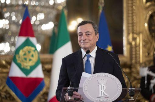 Ex-EZB-Chef Mario Draghi soll am Samstag neuer Premier werden