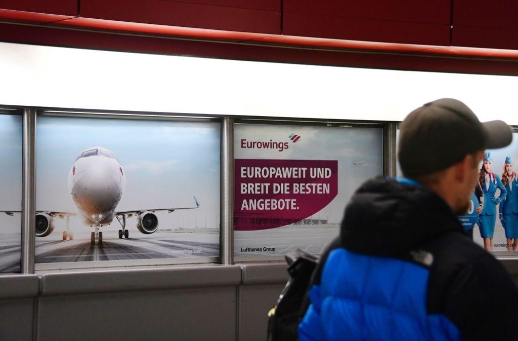 Bei Eurowings wird nun offenbar doch nicht gestreikt. Foto: AFP