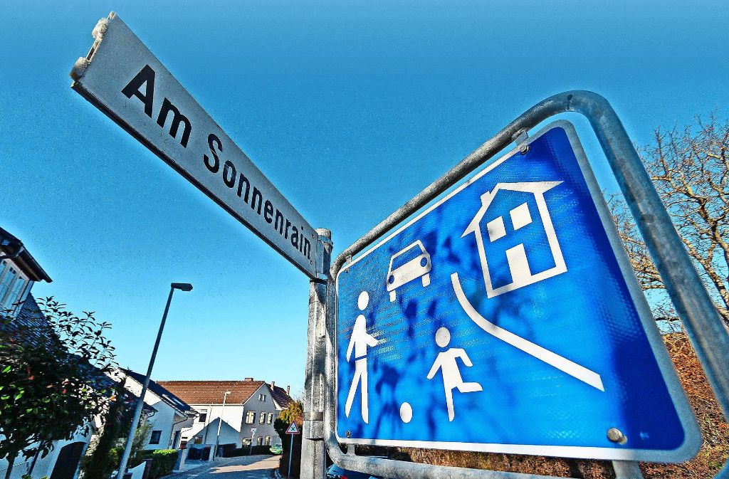 Der Abzweig zum Sonnenrain liegt direkt an dem Abschnitt, der für kurze Zeit Spielstraße war. Foto: factum/Granville