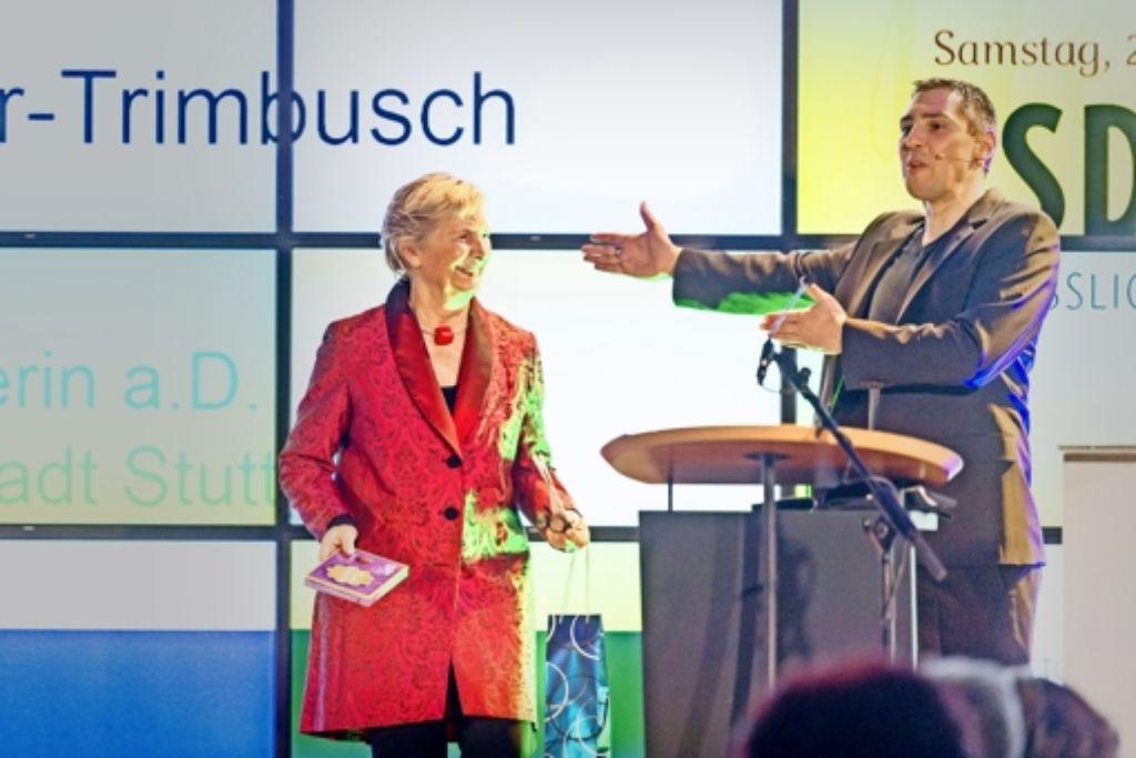 Gabriele Müller-Trimbusch und Christoph Michl beim Neujahrsempfang. Foto: Stollberg