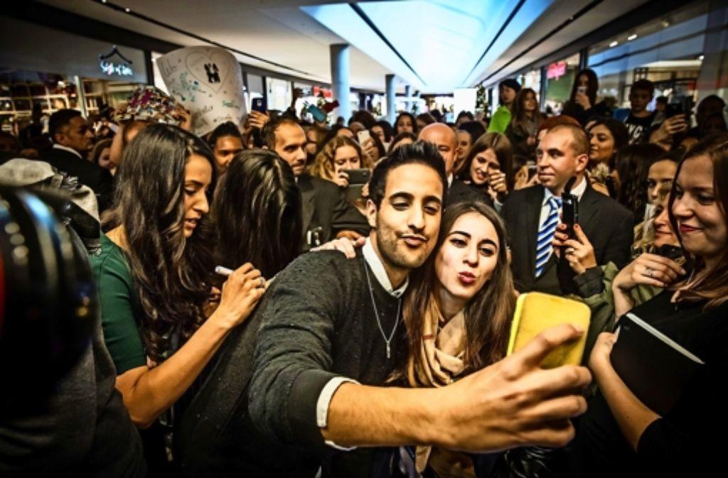 Sami Slimani löst eine halbe Massenhysterie im Gerber aus. Foto: Lichtgut/Achim Zweygarth