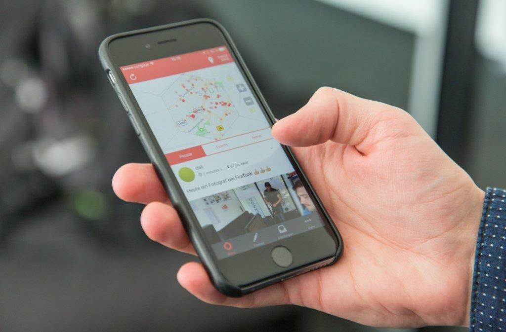 """""""Flurfunk"""" heißt eine neue App aus Stuttgart, die den Standort in den Mittelpunkt stellt. Foto: 7aktuell.de/Herlinger"""