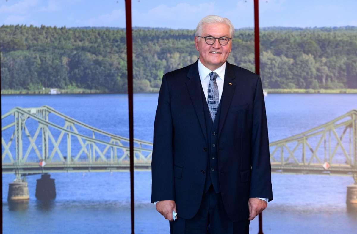 Bundespräsident Frank-Walter Steinmeier Foto: dpa/Soeren Stache