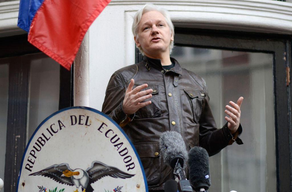 Julian Assange lebt seit mehr als sechs Jahren in der Botschaft des südamerikanischen Landes in London. Foto: dpa
