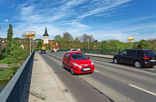Die Neckarbrücke wird saniert