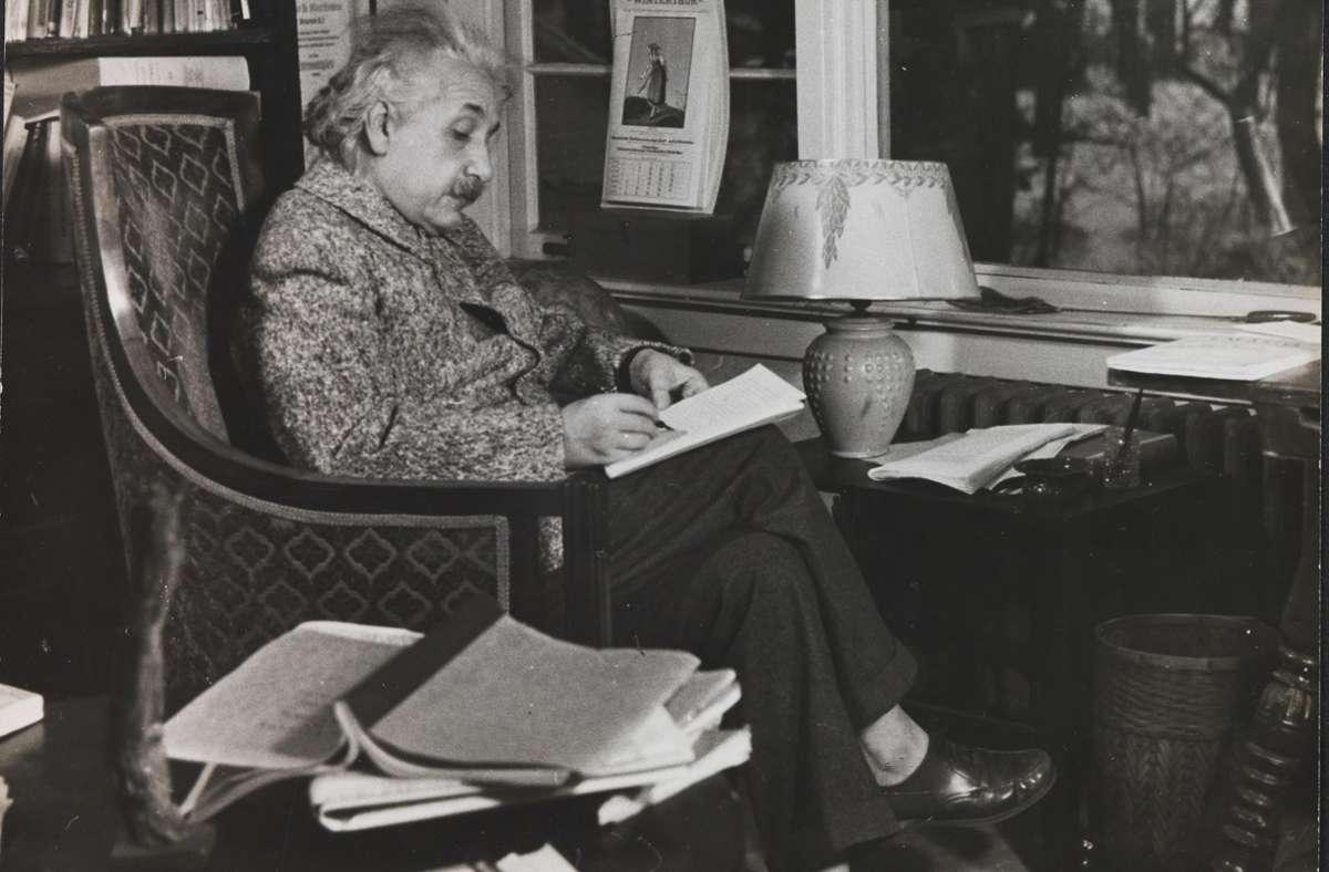 Ein Ausschnitt aus Eric Schaals Porträt von Albert Einstein Foto: Eric Schaal/Weidle-Verlag, Bonn