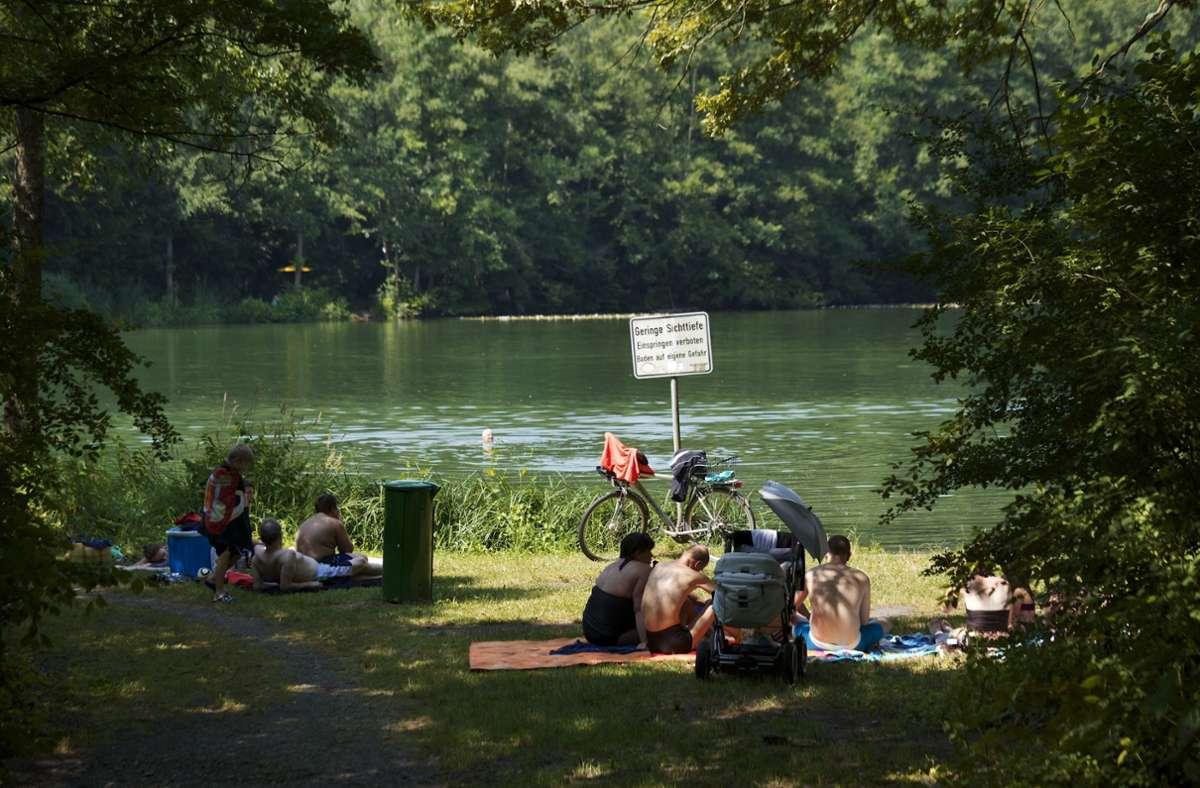 Die Seewaldseen verfügen über eine ausgezeichnete Wasserqualität. Das wissen  Besucher zu schätzen. Foto: Factum/Andreas Weise Foto: