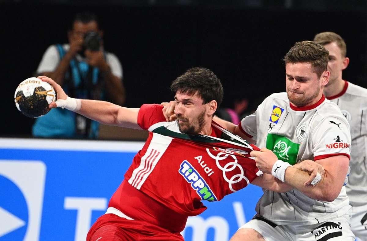 Gegen Ungarn setzte es für die deutsche Mannschaft eine knappe Niederlage. Foto: AFP/ANNE-CHRISTINE POUJOULAT