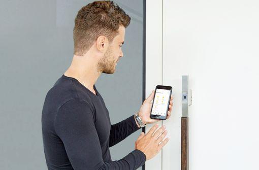 Über die ekey bionyx App können die Benutzer und Zutrittspunkte einfach und praktisch über das Smartphone verwaltet werden.