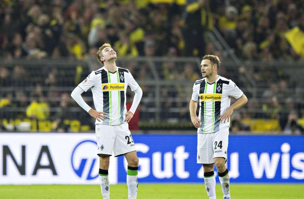 Christoph Kramer nach seinem Eigentor aus über 40 Metern gegen den BVB im Jahr 2014. (Archivbild) Foto: imago/Moritz Müller/imago sportfotodienst