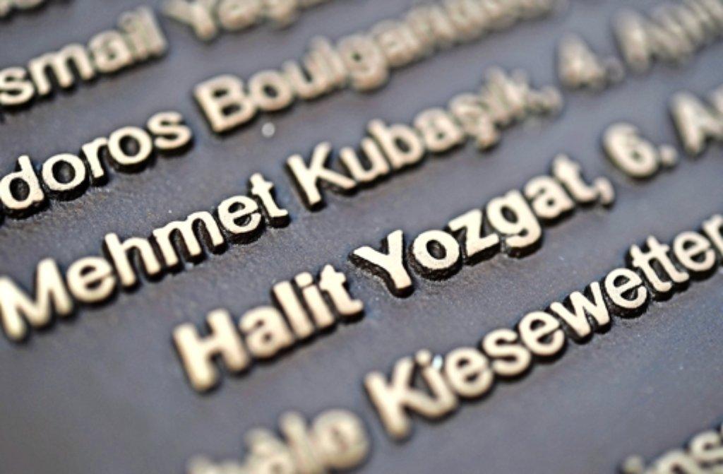 Erinnern an die Opfer der NSU-Taten – hier ein Gedenkstein in Kassel Foto: dpa