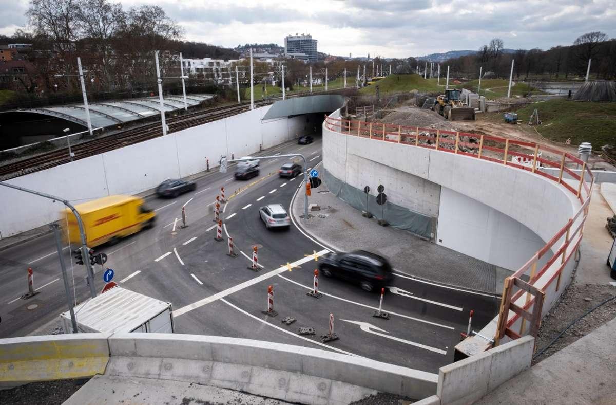 Die Baustelle Rosensteintunnel Foto: Lichtgut/Achim Zweygarth