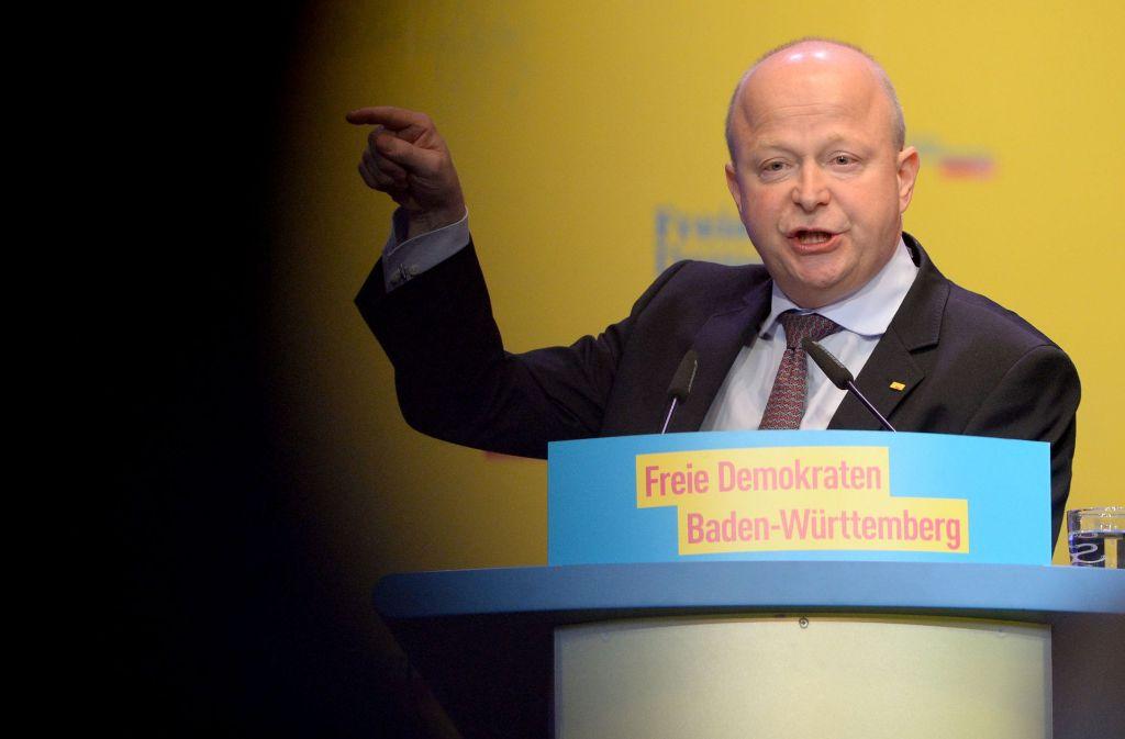 Der Vorsitzende der FDP Baden-Württemberg, Michael Theurer, warnte auf dem FDP-Parteitag vor einer Aushöhlung der Grund- und Bürgerrechte. Foto: dpa