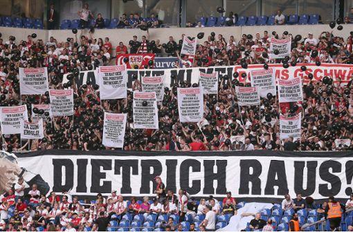 Fan-Proteste gegen VfB-Präsident dauern an