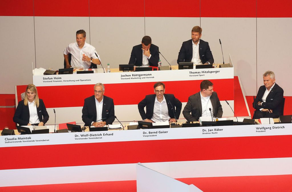 Wolfgang Dietrich  (re.) ist raus beim VfB Stuttgart – können die Verbliebenen Funktionäre den Club einen? Foto: Baumann