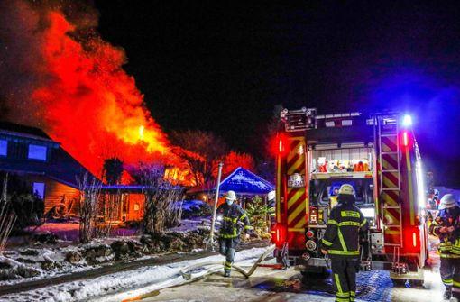 Brand in Einfamilienhaus – 500.000 Euro Schaden