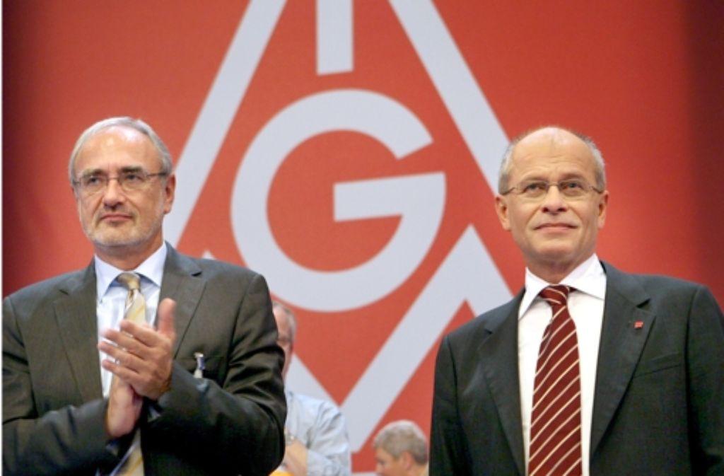 Detlef Wetzel (links) soll  Berthold Huber als IG-Metall-Chef ablösen. Foto: dpa-Zentralbild