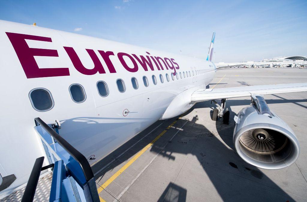 """Ein abgesagter Türkei-Flug der Gesellschaft """"Eurowings"""" sorgt für Diskussionen. Foto: dpa"""