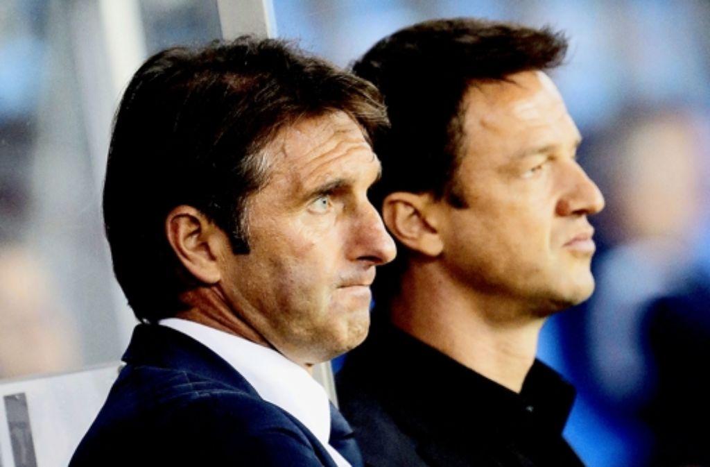 Bruno Labbadia (li.) und Fredi Bobic haben die Ziele fest im Blick. Foto: Baumann