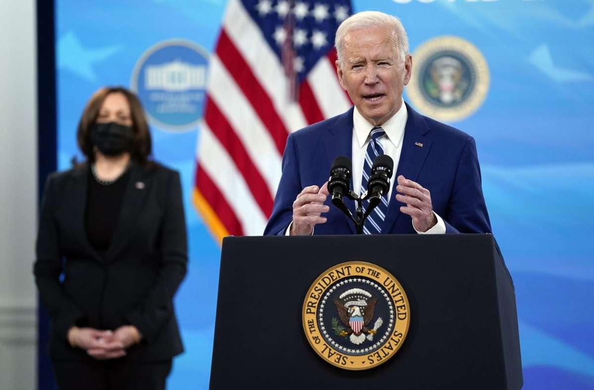 Joe Biden will die Infrastruktur in den USA modernisieren. Foto: dpa/Evan Vucci