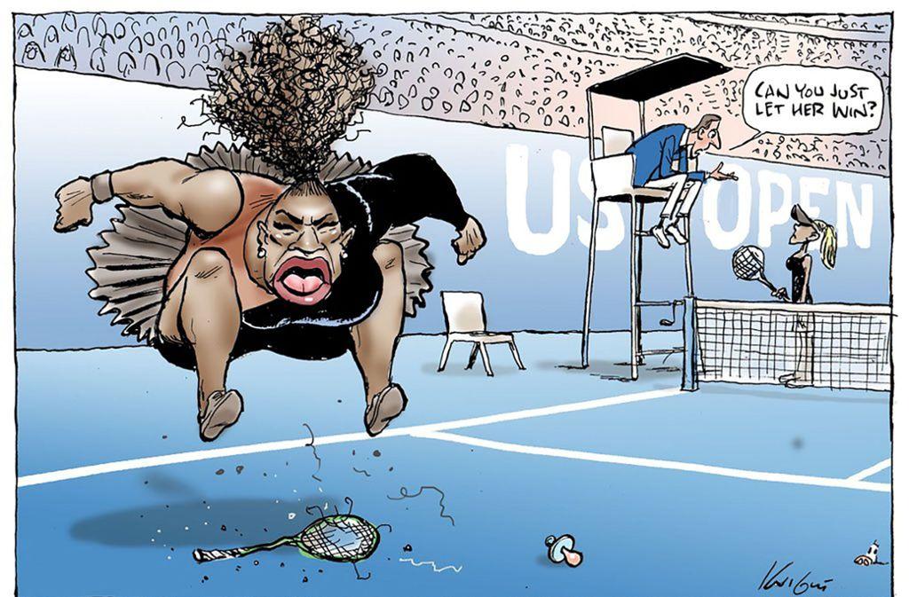 """Die Zeichnung war am Montag von der australischen Zeitung """"Herald Sun"""" gedruckt worden. Foto: AFP"""