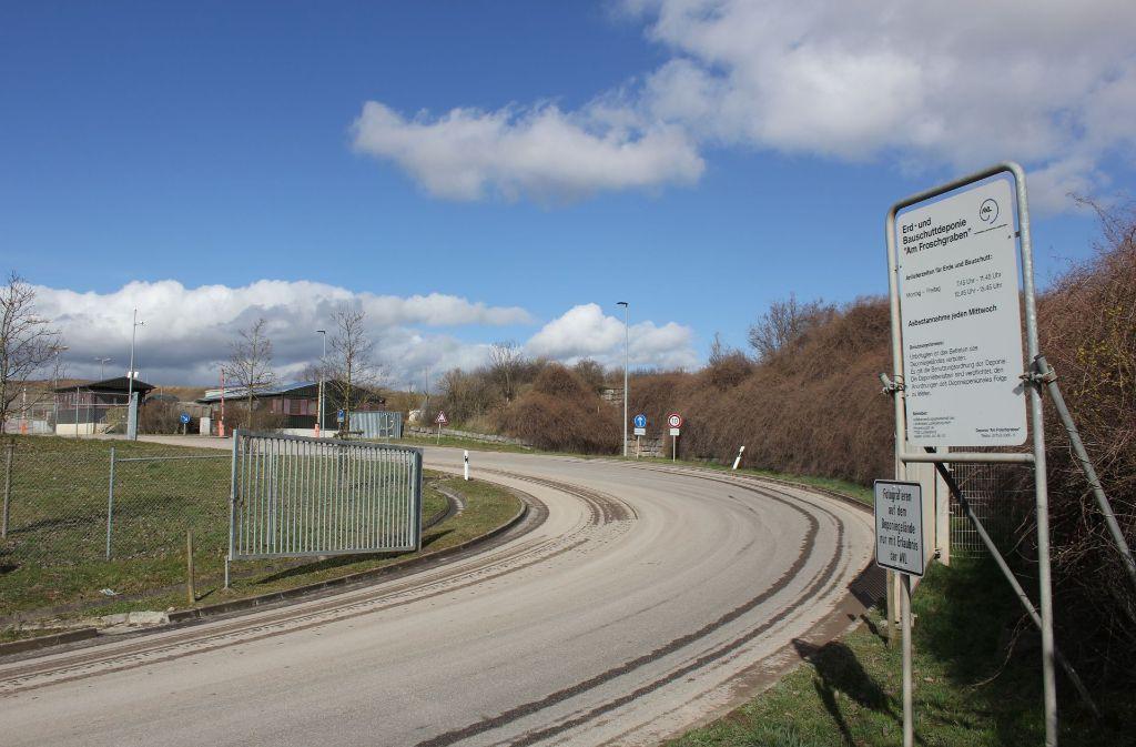 Noch in Betrieb – allerdings im Kreis Ludwigsburg: der Bauwertstoffhof am Froschgraben in Schwieberdingen. Foto: Pascal Thiel
