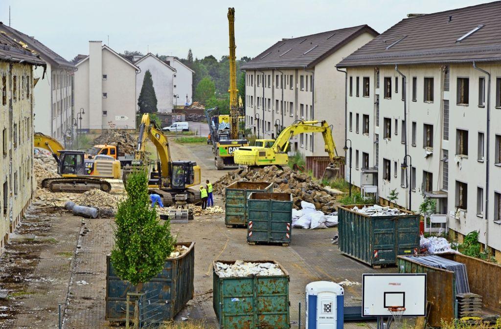 Noch prägen Baumaschinen das Bild im Franklin-Village. Schon nächstes Jahr sollen dort Menschen einziehen. Foto: MWSP