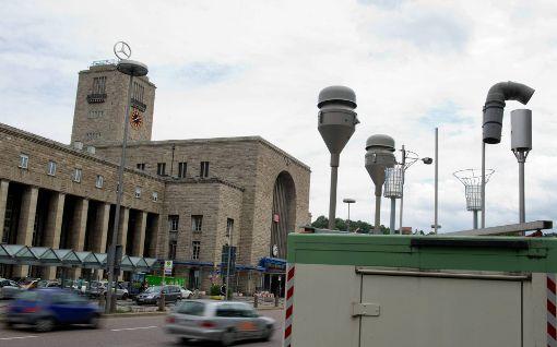 Schlechte Luft im Stadtbezirk Stuttgart-Nord am Dienstag