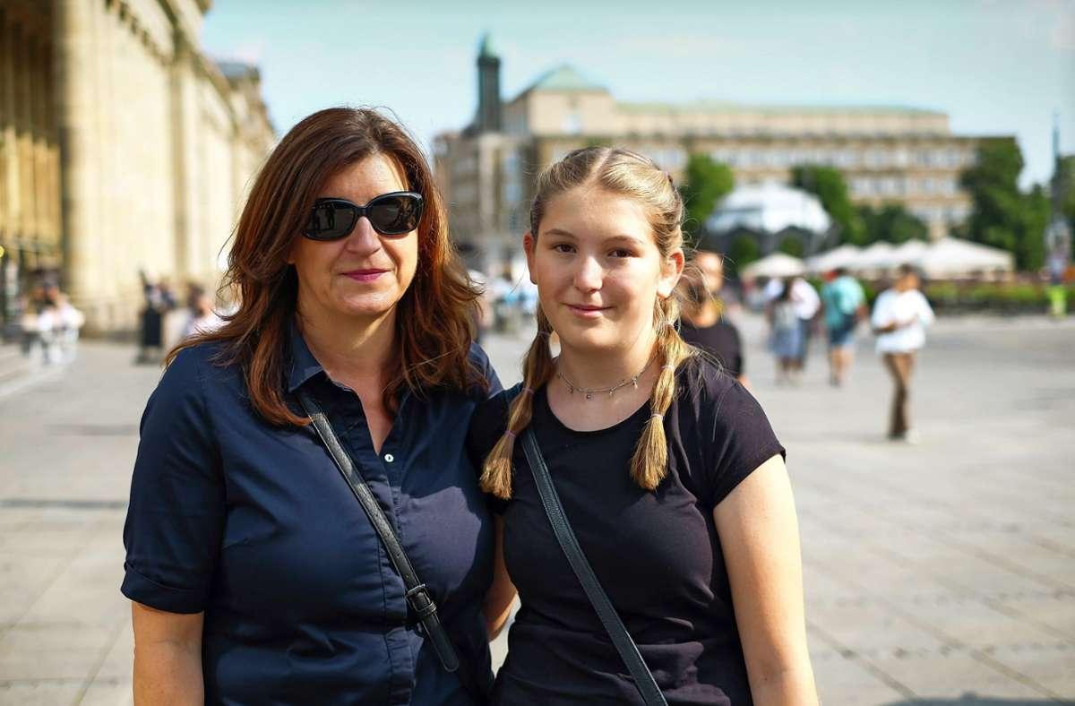 Martina Elsenhans mit Tochter Marina  in StuttgartFoto: Lichtgut/Max Kovalenko Foto: