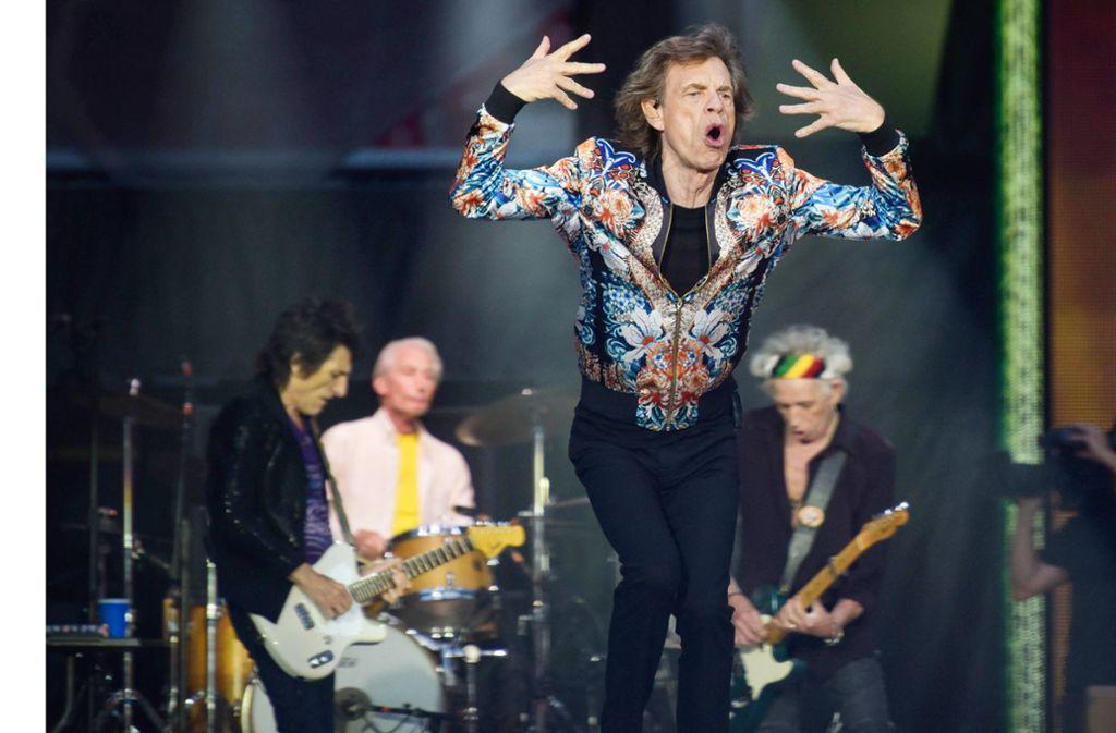 Ron Wood, Charlie Watts, Mick Jagger und Keith Richards  (von links) am Samstagabend in Stuttgart Foto: Lichtgut/Max Kovalenko