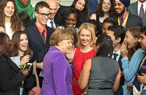Wie blickt  eine junge Frau auf Merkel?