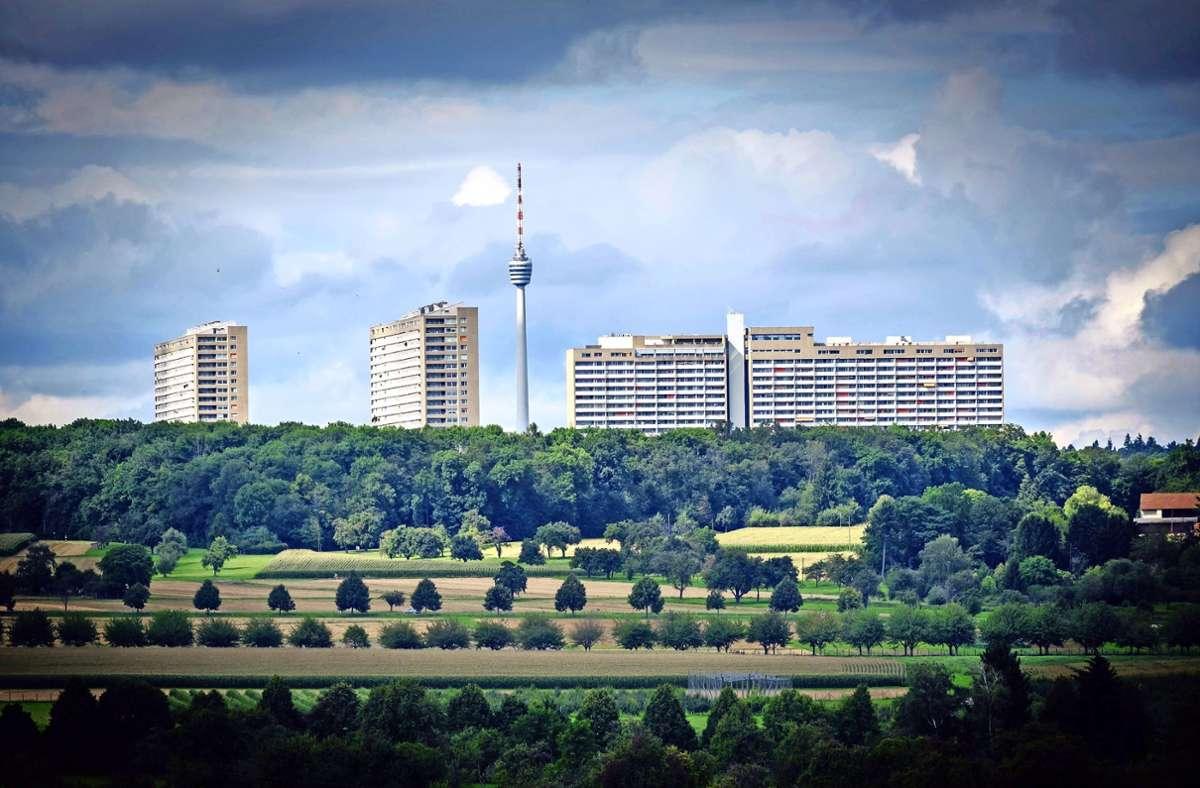 Die Wohnstadt liegt idyllisch zwischen Feldern und Wald sowie Degerloch, Birkach und Plieningen. Offiziell gehört die Siedlung zu Plieningen. Foto: Lichtgut/Achim Zweygarth