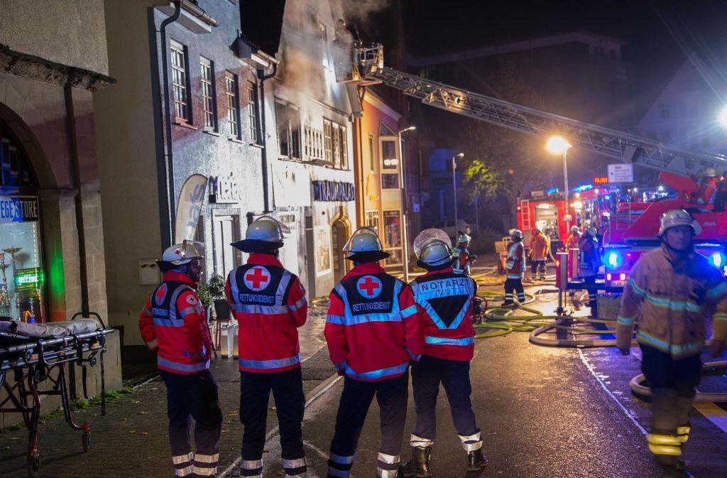 In der Nacht zu Samstag war ein Feuer in einem Haus in Backnang ausgebrochen. Foto: 7aktuell.de/Sven Adomat