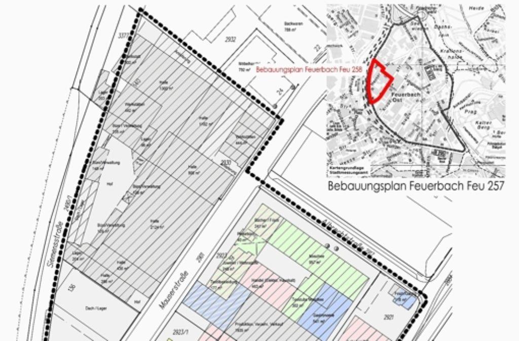 Das Gebiet an der Mauserstraße soll neu strukturiert werden. Foto: Knaus Mertes Architekten GmbH