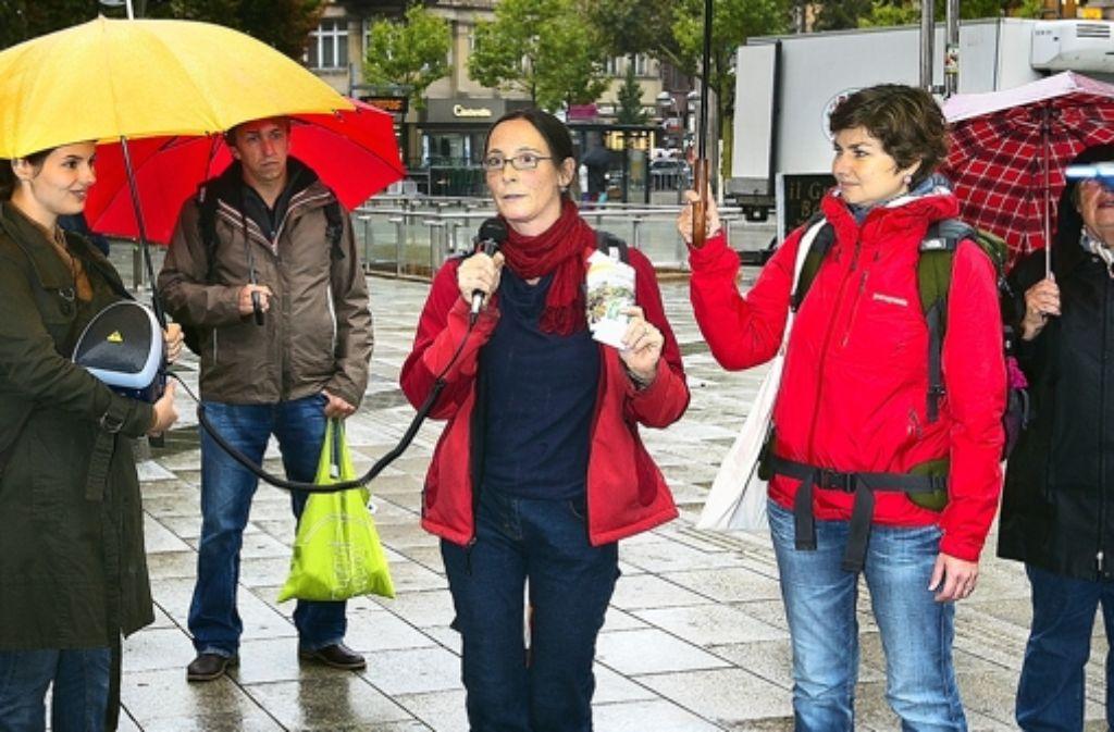Die Initiative Weltbewusst klärt über nachhaltigen Konsum auf. Foto: Horst Rudel
