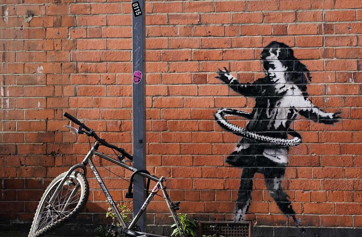 Banksy postete ein Foto davon am Samstag auf seinem Instagram-Account. Foto: dpa/Tim Goode