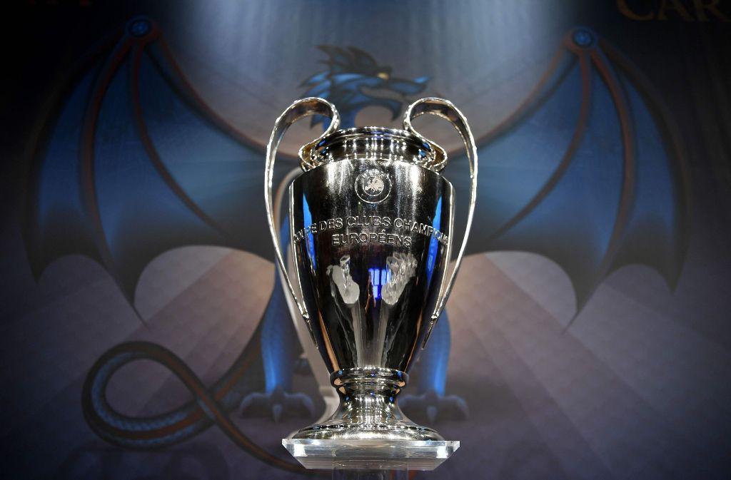 Um diesen Henkelpott geht es in der Champions League. Foto: AFP