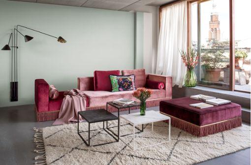 Beton trifft Samt: Besuch in einem preisgekrönten Apartment