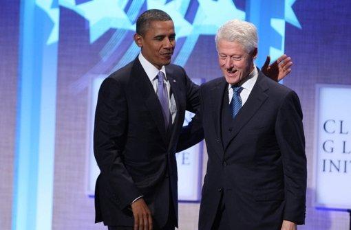 Obama über First Lady Bill Clinton