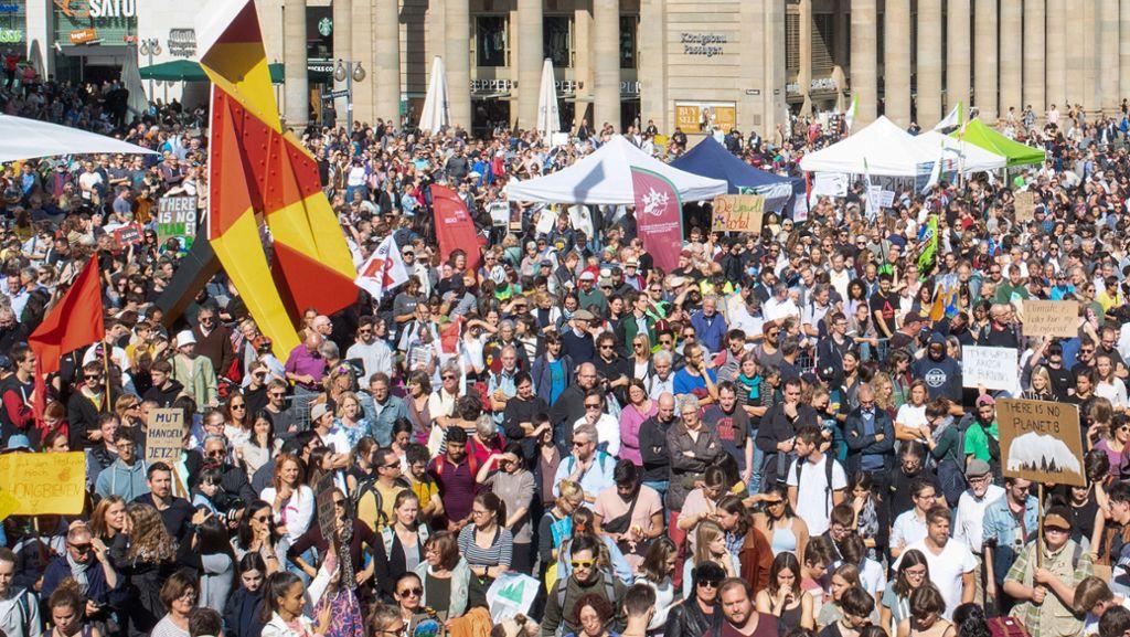 Weniger Schüler kommen zum Klimastreik